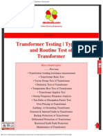 Transformer Testing _ Type Test and Routine Test of Transformer _ Electrical