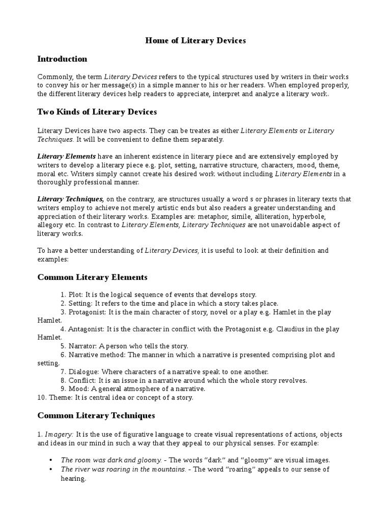 An Introduction to Literary Devices   Trama (Narrativa)   Narrativa