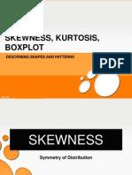 Take 9 - Skewness, Kurtosis, Boxplot