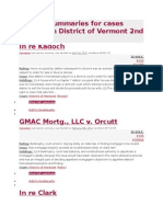 Opinion Summaries for Cases Decided in District of Vermont 2nd Circuit