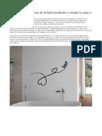 Los Vinilos Decorativos en El Baño Ayudarán a Vender Tu Casa o Piso