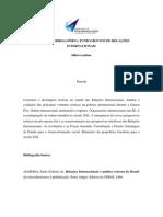 Ementa Da Disciplina Obrigatoria _ Fundamentos de Relacoes Internacionais