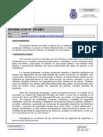 Depósito de efectos en taquillas de Centro Comercial INFORME UCSP Nº