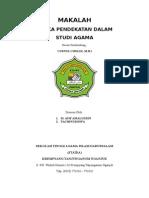 Aneka Pendekatan Dalam Studi Agama Islam