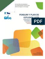 PENSUM DE ESTUDIOS 1978-1982-2002-2005