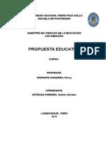 Trabajo Propuesta Educativa