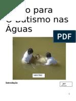 Curso para O Batismo nas Águas