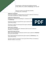 Caracterizacion Botanica y Estado de Conservacion de Especies Nativas Del Arbol de La Quina