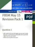 FBSM May 15 Revision Pack 1 by Akila Gunarathna