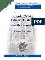 Oneida Public Library Audit of cash disbursements