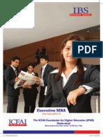 ICFAI HYDERABAD  EXE-MBA-2015