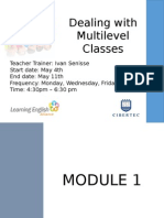 DEALING WITH MULTI-LEVEL CLASSES.pptx