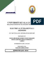 Electrical Fundimental Report Dc Genrator