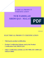 Electrical Prodcut Certification by Sirim