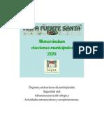 Memorándum Elecciones Municipales 2015