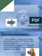 CRM Tema 3 - La Funcion de La Tecnologia