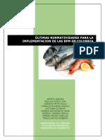 Normatividad para BPM de Pescados y Mariscos