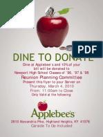 NHS Applebees Flyer