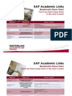 SAF Academic Links 2013