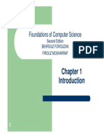 Foundations of Computer Science - Chapter 1