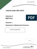 Calc a 2013 1 Solutions