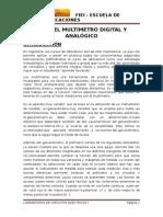 Uso Del Multímetro Digital y Analógico