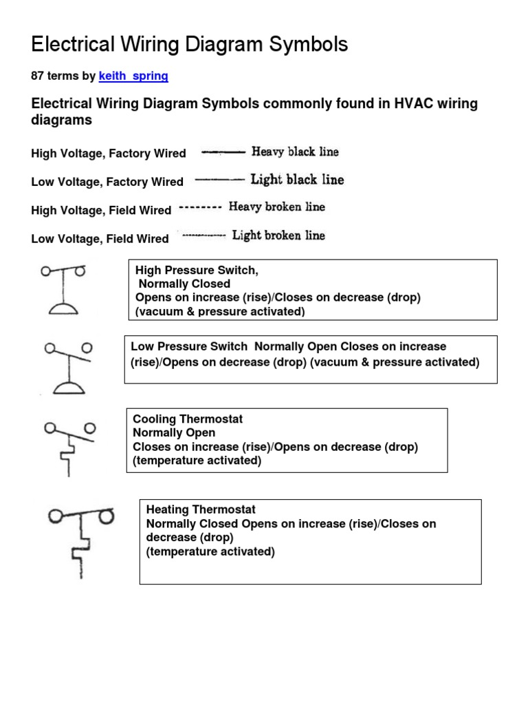 electrical wiring diagram symbols rev switch thermostat