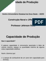 CNO2 Aula4 Capacidade de Produção