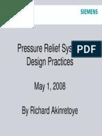 Pressure Relief System Design Practices