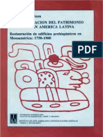 SCHÁVELZON, D. 1990. La Conservación Del Patrimonio Cultural en América Latina
