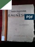 D Murărescu - Naționalismul Lui Eminescu