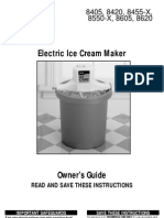 Rival 8405 Ice Cream Freezer Manual