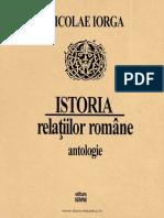 Iorga, Istoria Relaţiilor Române