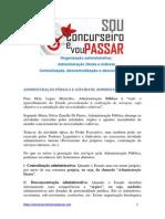 Apostila de Direito Administrativo - Organização Administrativa