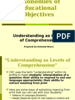 Understanding as Levels of Comprehension Poweroint
