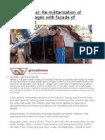 Valalai (Jaffna) Re-militarisation of Released Villages With Façade of Resettlement