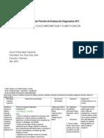 Planificación Periodo de Evaluacion Diagnostico MATEMATICA