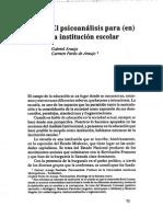 El psicoanalisis para (en) la institucion escolar