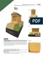 Parthenon Paper Craft