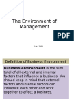Environment of Management