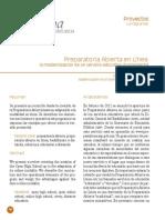 2013 Preparatoria Abierta en Línea La Modernización de Un Servicio Educativo Fundamental