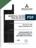 PLAN 13628 Manual de Procedimiento Del Departamento de Patología Clínica y Anatomía Patológica Del HNDM 2013
