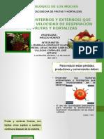 Factores Que Afectan La Respiracion de Frutas y Hortalizas