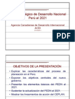 Plan egico de Desarrollo Nacional Peru Al 2021