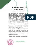 Legalizaciones SARTIMBAMBA