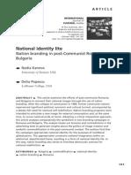 Kaneva Popescu-BU NatId Lite-InternationalJCultiuralStudies2011