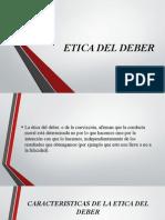 Etica Del Deber