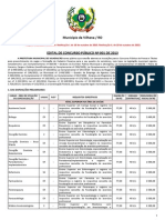 2013 - Prefeitura de Vilhena/RO - Edital de concurso público