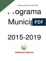 Programa Municipal 2015-2019 IU Bollullos