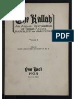 The Kallah Texas 1928